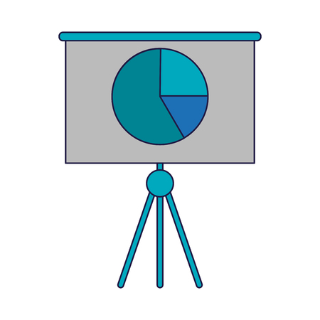 Statistics graph on whiteboard symbol vector illustration graphic design