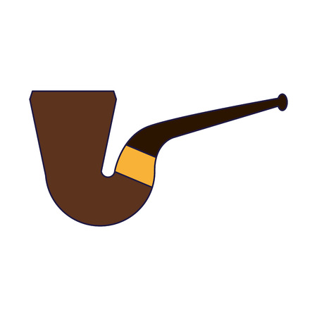 tobacco pipe isolated symbol vector illustration graphic design