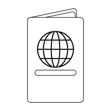 passport travel document id vector illustration graphic design Standard-Bild - 118224477