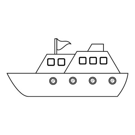 cruise ship boat symbol vector illustration graphic design Illustration