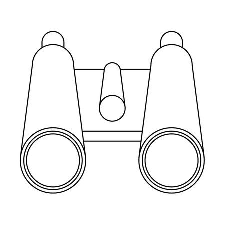 Binoculars campng symbol isolated vector illustration graphic design