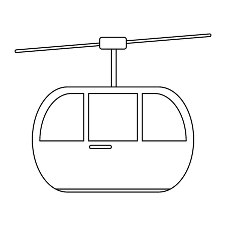 cableway cabin transport symbol isolated vector illustration graphic design