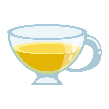 Tea lemon drink cup vector illustration graphic design