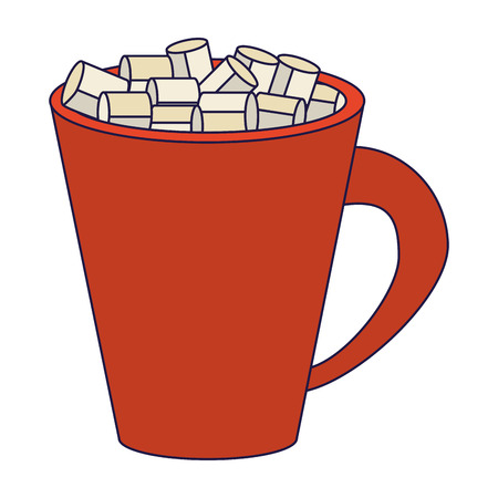 Sugar cubes in mug isolated vector illustration graphic design Stock fotó - 124732235