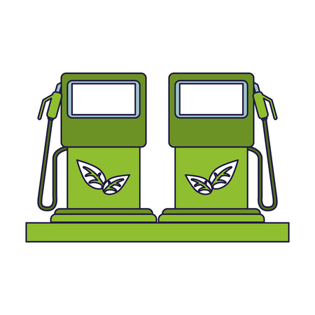 Ecology green energy fuel dispensers vector illustration graphic design Vektorgrafik