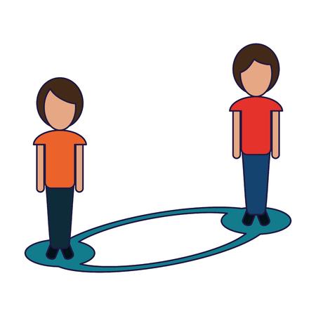 women social network connection vector illustration graphic design