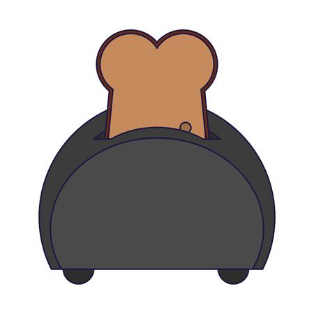 bread in toaster kitchen utensil vector illustration graphic design