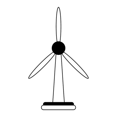 Wind turbine green energy isolated vector illustration graphic design Illustration