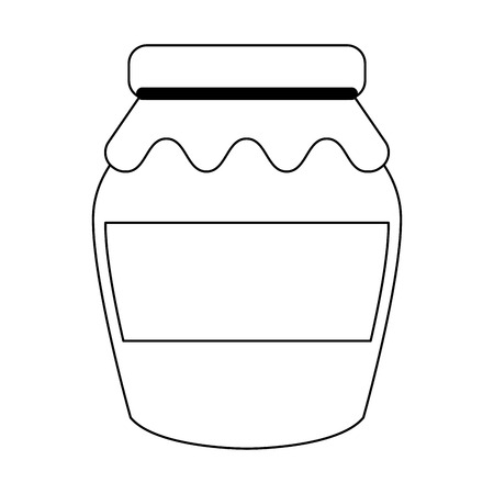 Jam jar with cloth vector illustration graphic design
