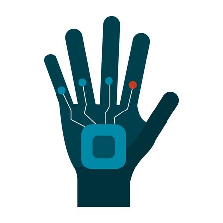 Robot hand technology symbol vector illustration graphic design Stock Illustratie