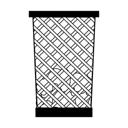 office trash can isolated vector illustration graphic design