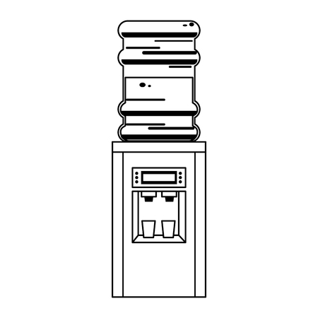 Water dispenser with bottle vector illustration graphic design