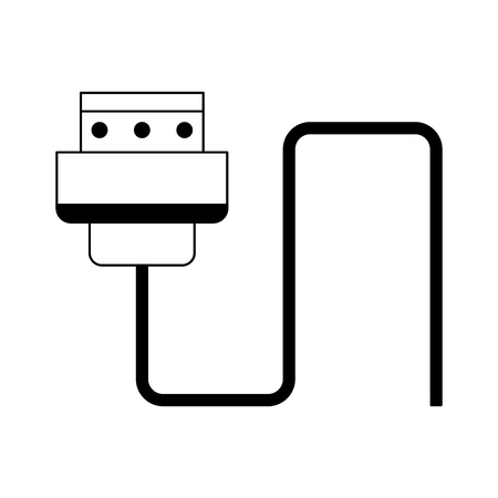 HDMI usb cable isolated vector illustration graphic design