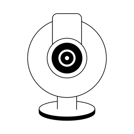 Webcam computer device isolated vector illustration graphic design