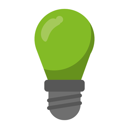 Green ecology bulb light vector illustration graphic design