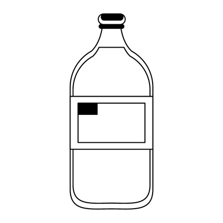 Milk bottle dairy drink vector illustration graphic design Ilustrace
