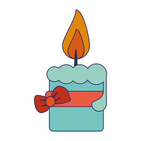 Decorative candle with bow vector illustration graphic design