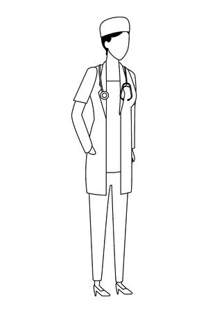 doctor profession worker avatar vector illustration graphic design