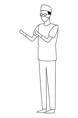doctor surgeon profession worker avatar vector illustration graphic design