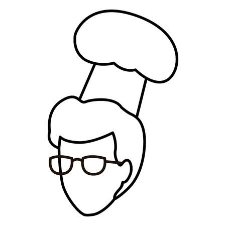 faceless chef head hat toque vector illustration graphic design