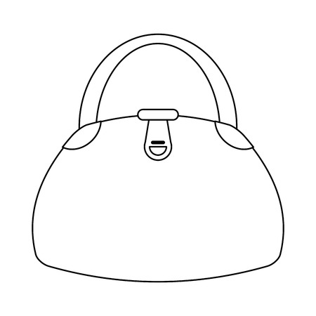 woman fashion bag cartoon vector illustration graphic design