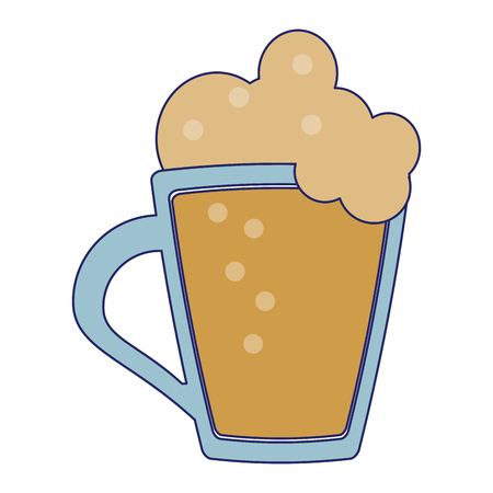 Beer glass cup symbol vector illustration graphic design