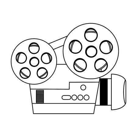 Movie professional video camera  vector illustration graphic design