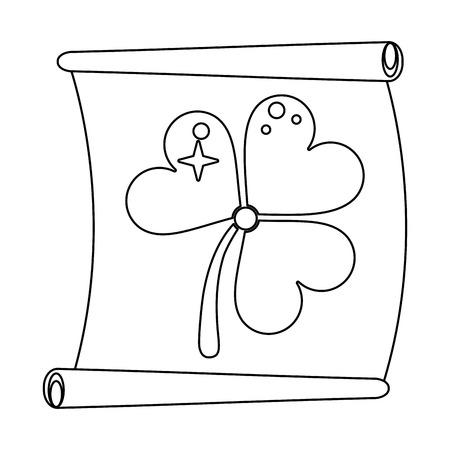 st patrick papyrus with clover symbol  vector illustration graphic design Ilustração
