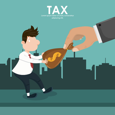 Tax pay office documents cartoons vector illustration graphic design