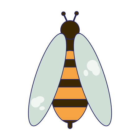 Bee bug cartoon isolated vector illustration graphic design