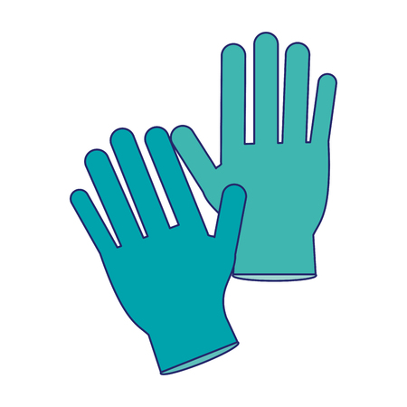 Medical gloves isolated vector illustration graphic design