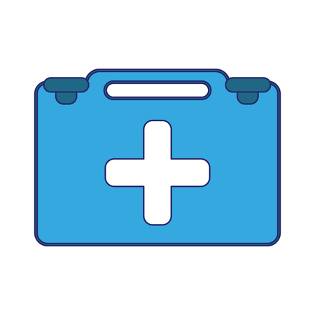 Medical first aids suitcase symbol vector illustration graphic design