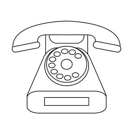 Vintage telephone symbol isolated vector illustration graphic design Illustration