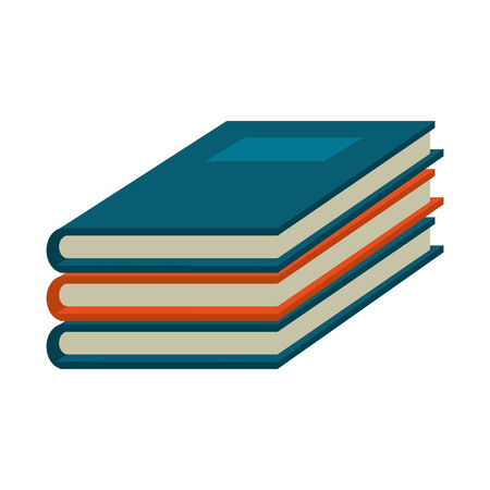 Books piled up symbol vector illustration graphic design