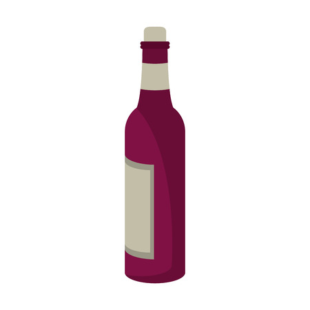 Wine bottle isolated symbol vector illustration graphic design