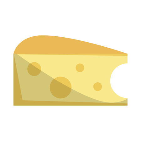 Cheese dairy food isolated vector illustration graphic design