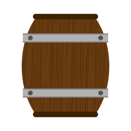 wine wooden barrel isolated vector illustration graphic design
