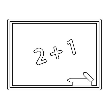 Blackboard education symbol isolated vector illustration graphic design