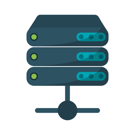 database servers technology symbol vector illustration graphic design