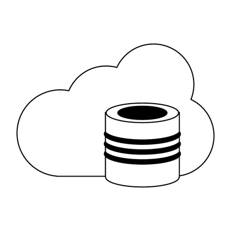 Cloud computing database symbol vector illustration graphic design
