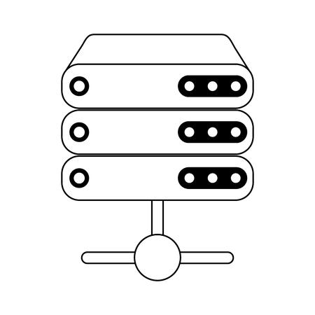 database servers technology symbol vector illustration graphic design