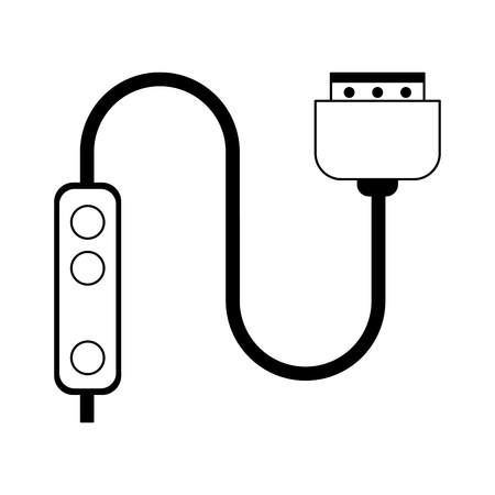 HDMI cable technlogy device vector illustration graphic design Illustration