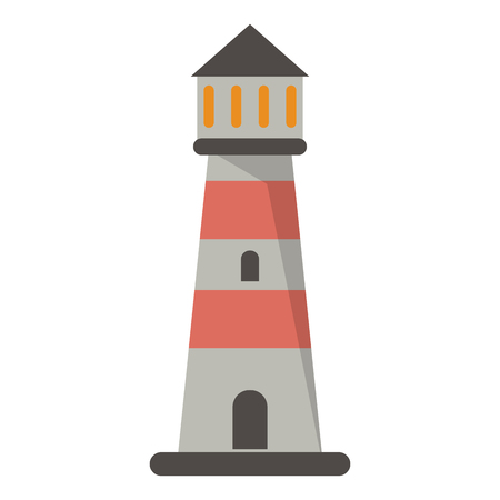 Lighthouse building symbol isolated vector illustration graphic design Иллюстрация