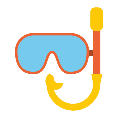 Diving mask equipment symbol vector illustration graphic design Illustration