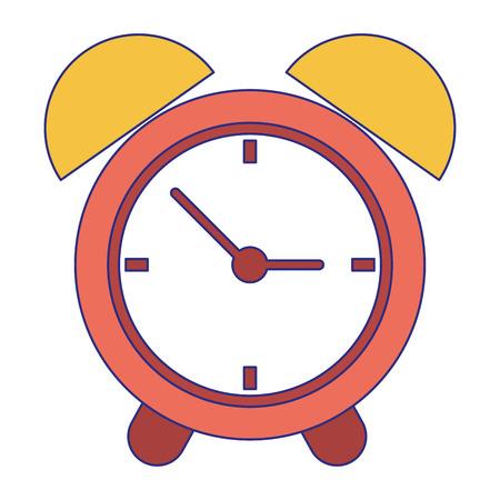 Alarm clock time symbol vector illustration graphic design