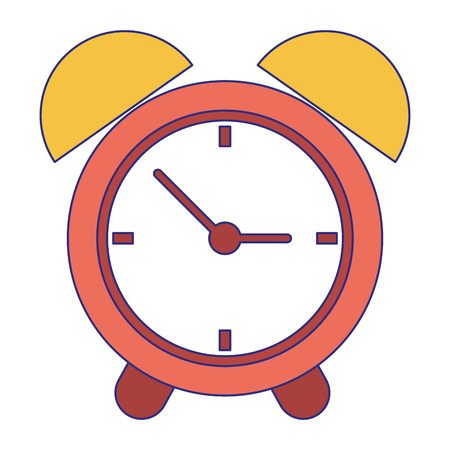 Alarm clock time symbol vector illustration graphic design