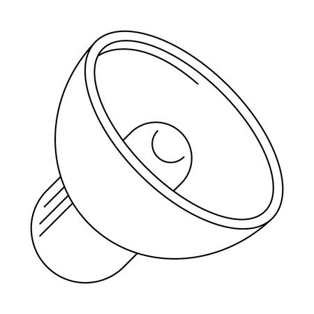 Bullhorn volume symbol isolated vector illustration graphic design