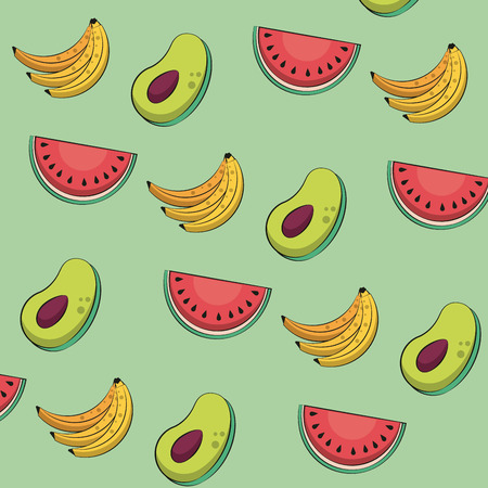 Healthy fruits pattern background vector illustration graphic design