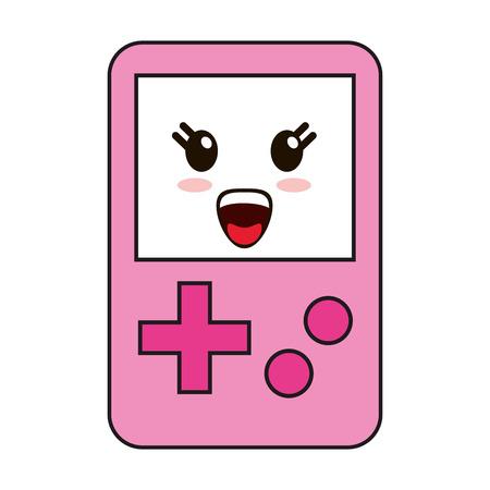 Tetris videogame cute kawaii cartoon vector illustration graphic design