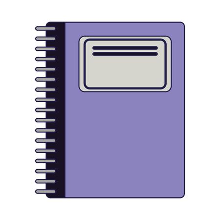 School notebook utensil isolated Design 일러스트